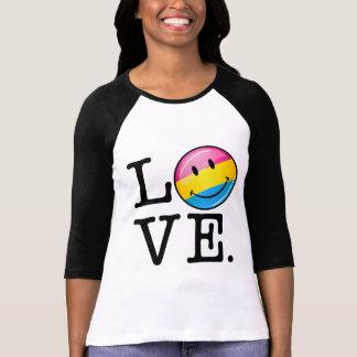 Camiseta Bandeira de sorriso do amor Pansexual