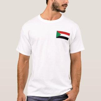 Camiseta Bandeira de Sudão e t-shirt do mapa