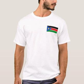 Camiseta Bandeira de Sudão e t-shirt sul do mapa
