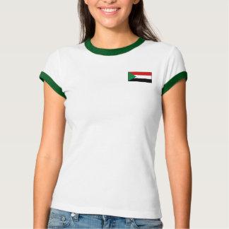 Camiseta Bandeira de Sudão + T-shirt do mapa