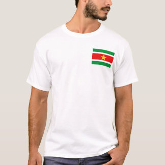 Camiseta Bandeira de Suriname e t-shirt do mapa