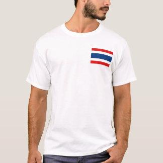 Camiseta Bandeira de Tailândia e t-shirt do mapa