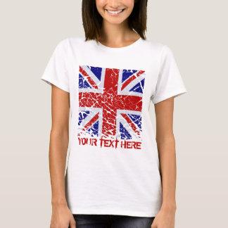 Camiseta Bandeira de Union Jack da casca Do Reino Unido