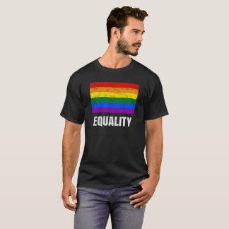 Camiseta Bandeira do arco-íris do orgulho gay da igualdade