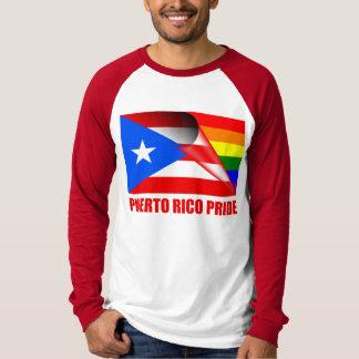 Camiseta Bandeira do arco-íris do orgulho LGBT de Puerto