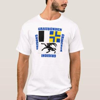 Camiseta Bandeira do cantão da suiça de Graubunden