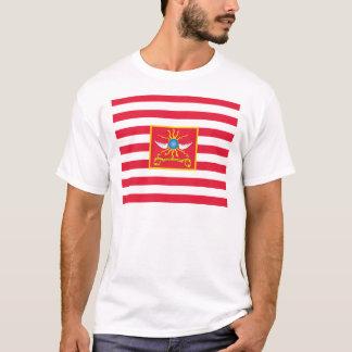 Camiseta Bandeira do cavalo de Sheldon (òs Dragoons da luz)