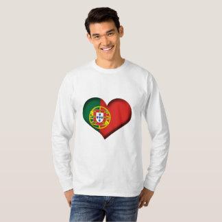 Camiseta Bandeira do coração de Portugal
