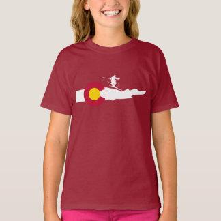 Camiseta Bandeira do esqui do esqui de Colorado