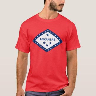 Camiseta Bandeira do estado de Arkansas (no vermelho)