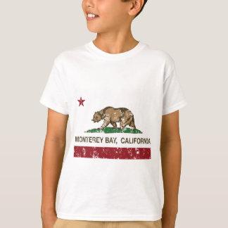 Camiseta bandeira do estado de Califórnia da baía de