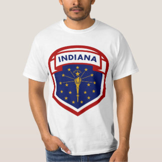 Camiseta Bandeira do estado de Indiana