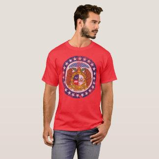 Camiseta Bandeira do estado de Missouri