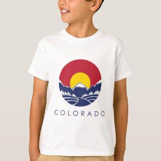 Camiseta Bandeira do estado de montanha rochosa de Colorado