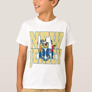 Camiseta Bandeira do estado de New-jersey