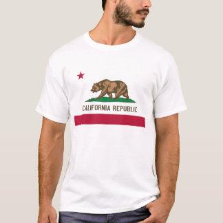 Camiseta Bandeira do estado do urso da república de
