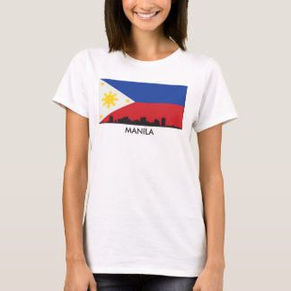 Camiseta Bandeira do filipino da skyline de Manila
