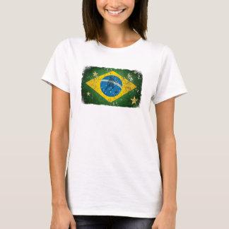 Camiseta Bandeira do Grunge de Brasil para brasileiros no