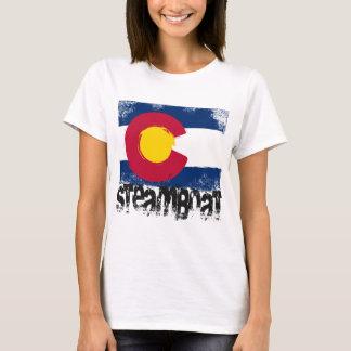 Camiseta Bandeira do Grunge do barco a vapor