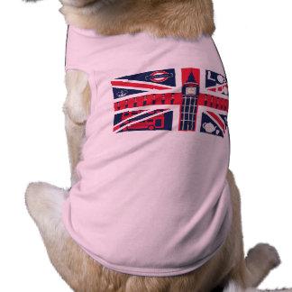 Camiseta bandeira do jaque de união do vintage com