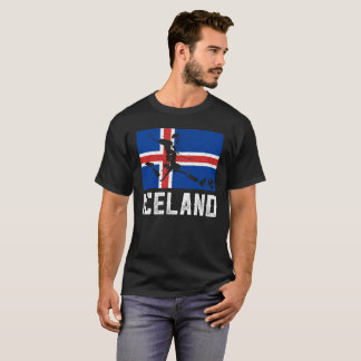 Camiseta Bandeira do jogador de futebol de Islândia