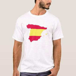 Camiseta Bandeira do mapa da espanha