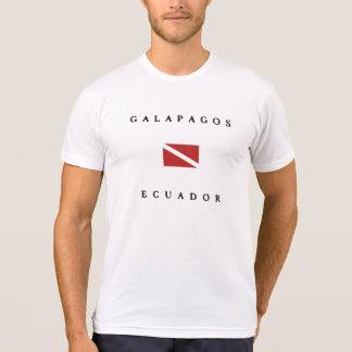 Camiseta Bandeira do mergulho de Galápagos Equador