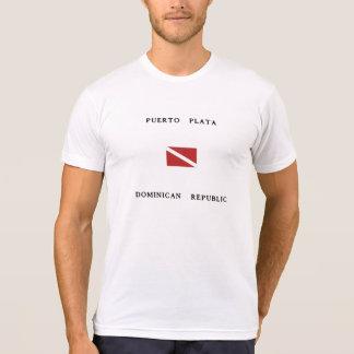 Camiseta Bandeira do mergulho do mergulhador da República