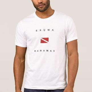 Camiseta Bandeira do mergulho do mergulhador de Exuma