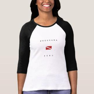 Camiseta Bandeira do mergulho do mergulhador de Pucusana