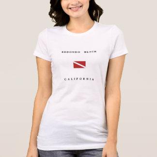Camiseta Bandeira do mergulho do mergulhador de Redondo