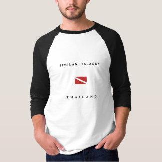 Camiseta Bandeira do mergulho do mergulhador de Tailândia