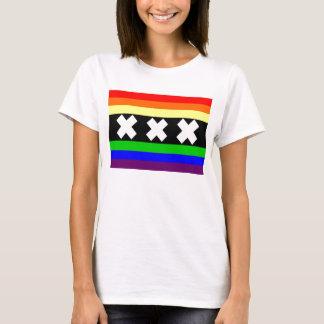 Camiseta Bandeira do orgulho gay de Amsterdão