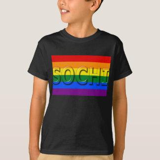 Camiseta Bandeira do orgulho gay de SOCHI