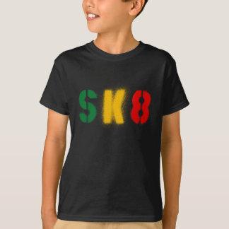 Camiseta bandeira do rasta do estencil sk8