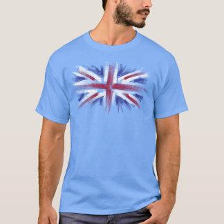 Camiseta bandeira do Reino Unido do jaque de união
