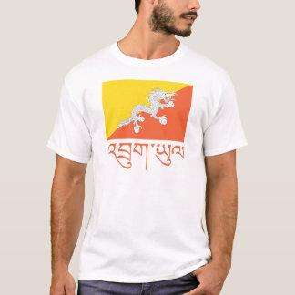 Camiseta Bandeira do roupa de Bhutan