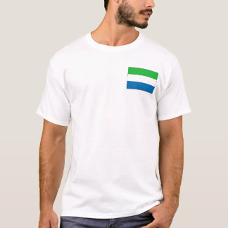 Camiseta Bandeira do Sierra Leone e t-shirt do mapa