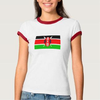Camiseta Bandeira do t-shirt da mulher de Kenya