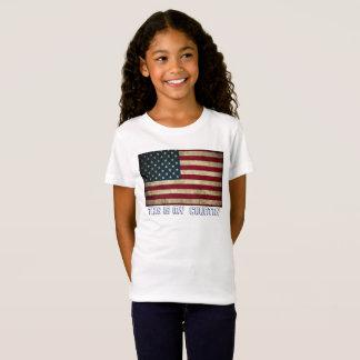 Camiseta Bandeira do t-shirt w/American do jérsei das