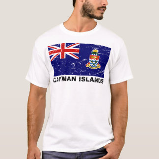 Camiseta Bandeira do vintage de Cayman Islands