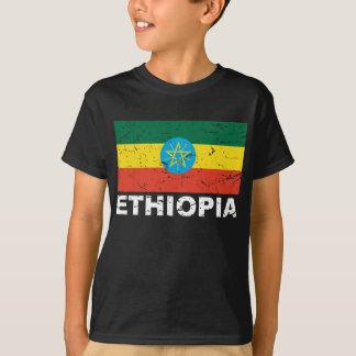 Camiseta Bandeira do vintage de Etiópia