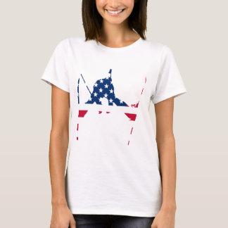 Camiseta Bandeira dos EUA do americano de esqui de América