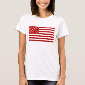 Camiseta Bandeira dos EUA - estêncil vermelho