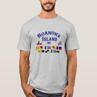 Camiseta Bandeira dos Sig do NC da ilha de Roanoke