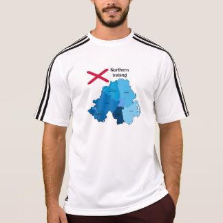 Camiseta Bandeira e mapa de Irlanda do Norte
