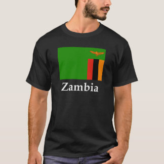 Camiseta Bandeira e nome da Zâmbia