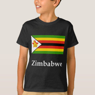 Camiseta Bandeira e nome de Zimbabwe