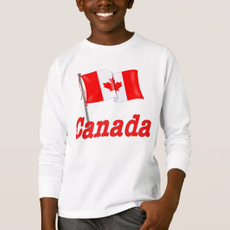 Camiseta Bandeira e texto canadenses