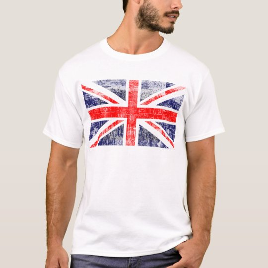 Camiseta Bandeira Englaterra grunge